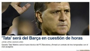 Presa spaniola anunta ca Gerardo Martino va semna cu FC Barcelona