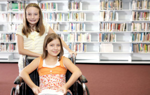 School Library - Two Girls