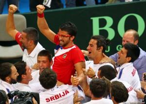 Janko Tipsarevic invingator in semifinala Cupei Davis
