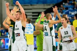 Lituania in semifinalele Europeanului de baschet masculin