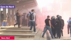incidente intre suporterii maghiari si fortele de ordine