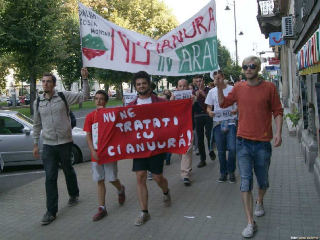 protest Arad Rosia Montana