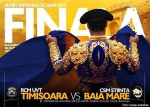 Finala SuperLigii de rugby, RCM UV Timisoara - CSM Stiinta Baia Mare