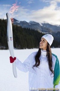 flacara olimpica la polul nord