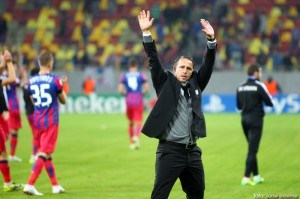 Laurentiu Reghecampf, antrenorul echipei Steaua Bucuresti