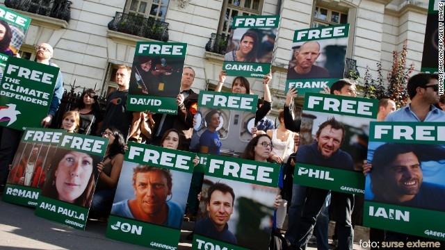 protest Greenpeace in Rusia