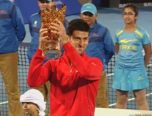 Djokovic castiga finala de la Abu Dhabi in 2013