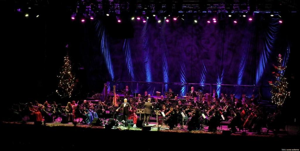 Orchestra Nationala Radio cu Jose Carreras foto Virgil Oprina