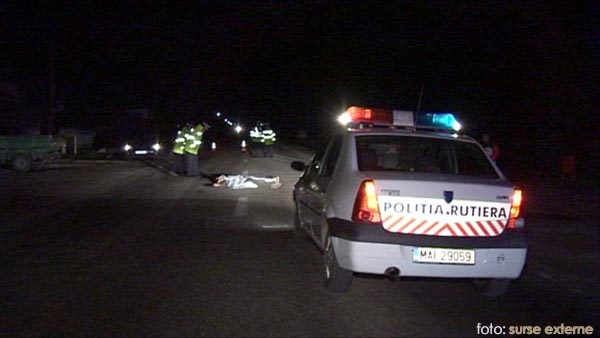 politia rutiera la accident seara