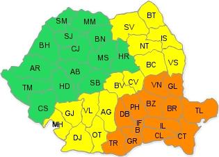 cod galben si portocaliu 25 ianuarie seara