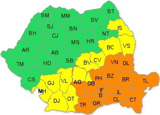 cod galben si portocaliu 28 ianuarie