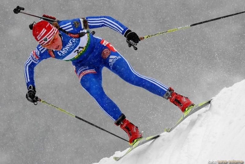 Russia's Albina Akhatova competes in the