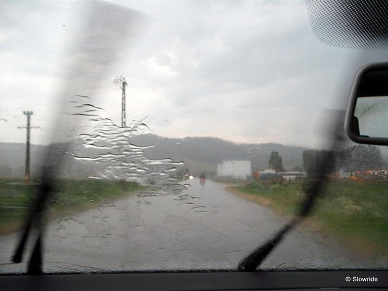 drum cu ploaie