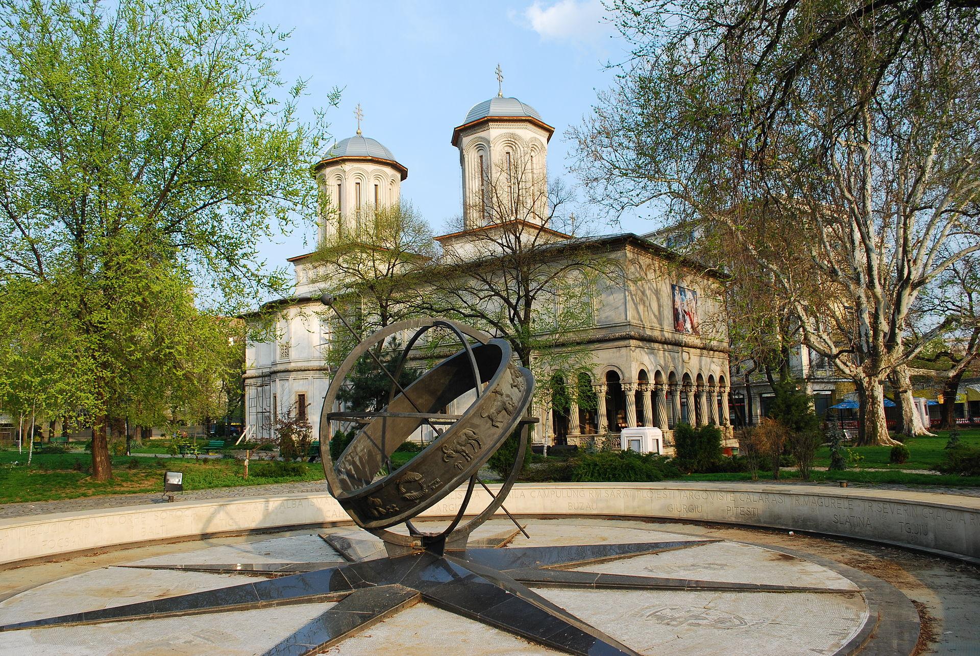 Km 0 - Centrul Bucurestiului - biserica Sfantul Gheorghe
