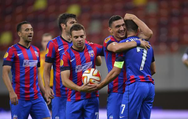 Steaua la victoria cu Aalborg