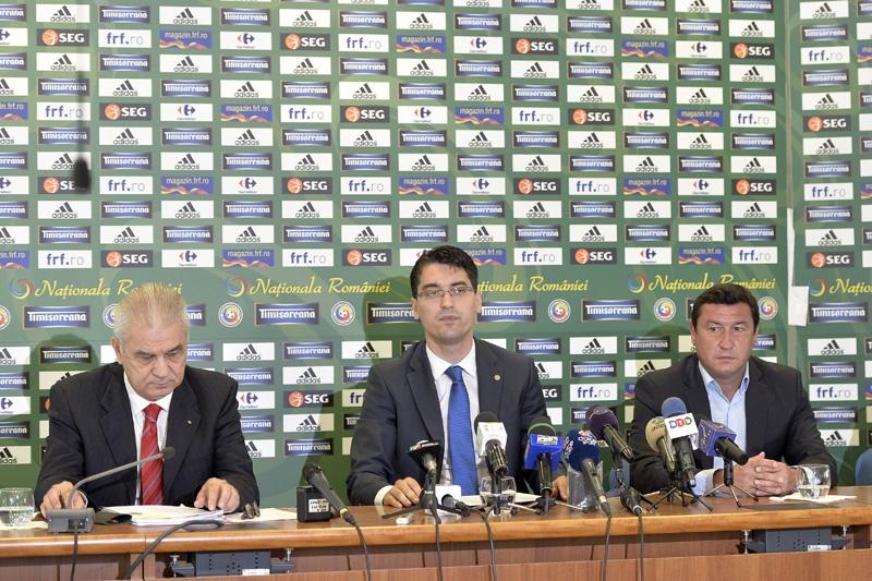 Anghel Iordanescu, Razvan Burleanu si Viorel Moldovan