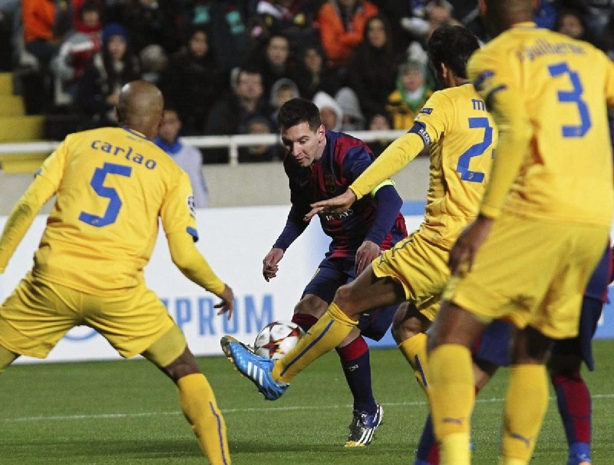 FC Barcelona a castigat in deplasarea din Cipru, in Grupa F a Ligii Campionilor
