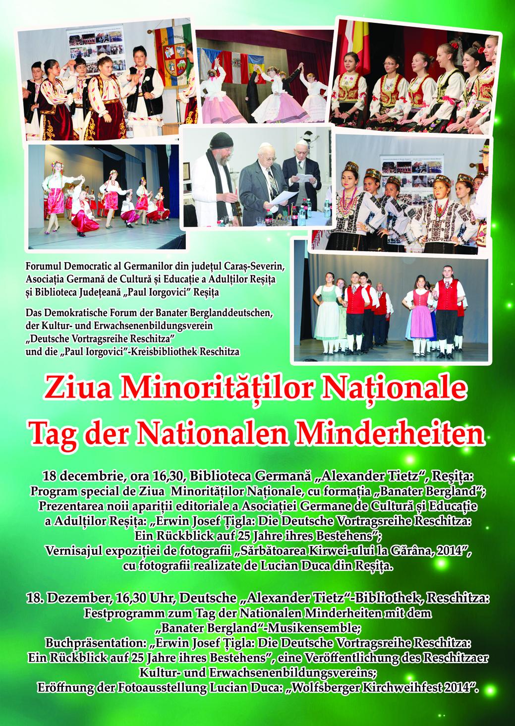 ZIUA MINORITATILOR NATIONALE 2014 - INVITATIE - AFIS