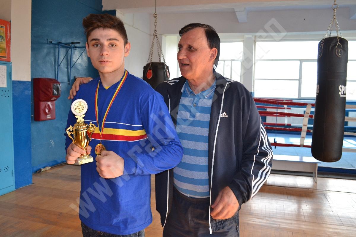 Daniel Anca si antrenorul Radu George