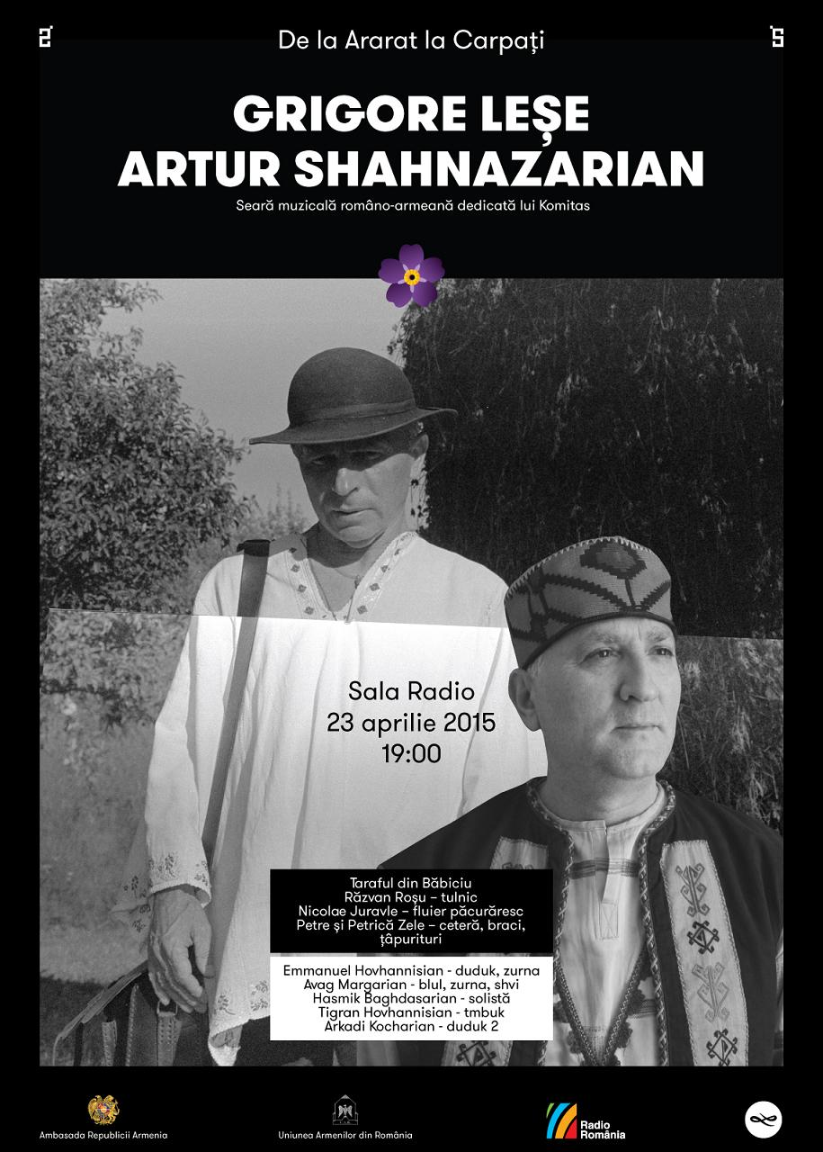 Grigore Lese si Artur Sahnazarian afis