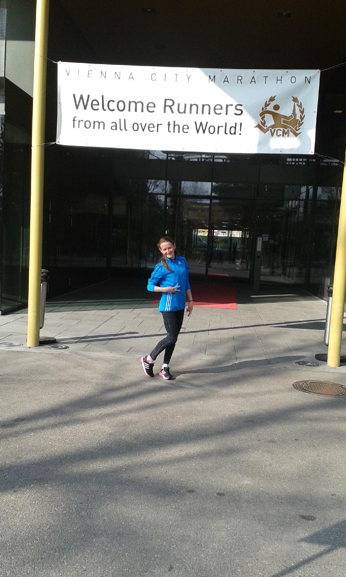 Liliana Danci la Maratonul de la Viena 2015