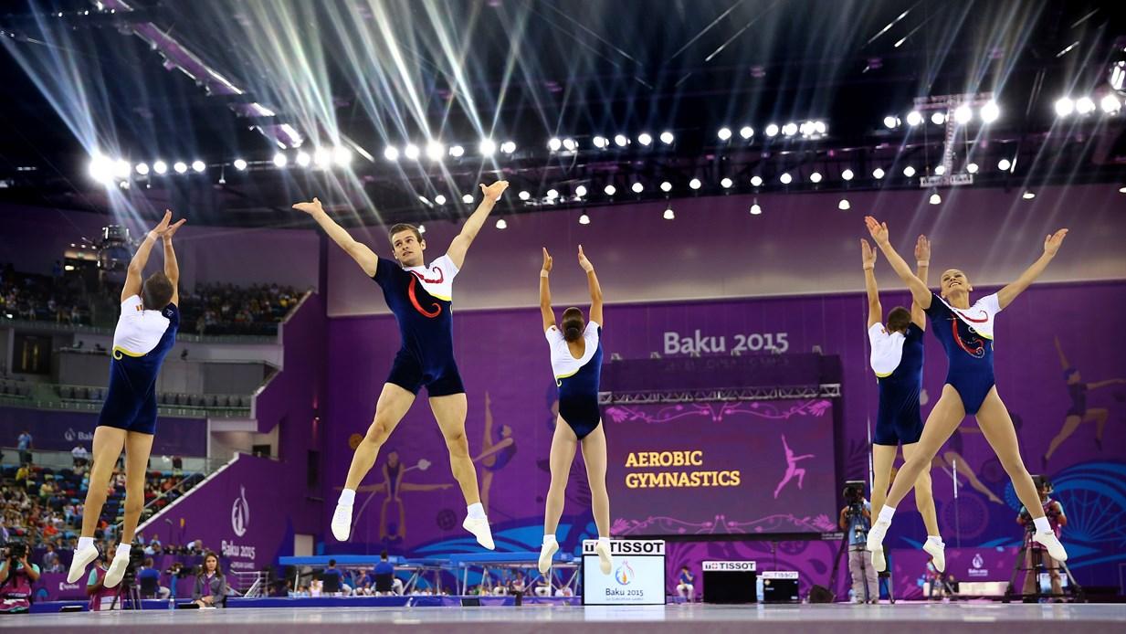 gimnastica aerobica Romania argint Baku 2015
