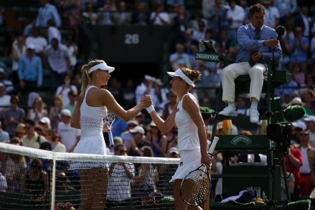 Irina Begu Maria Sarapova Wimbledon 2015