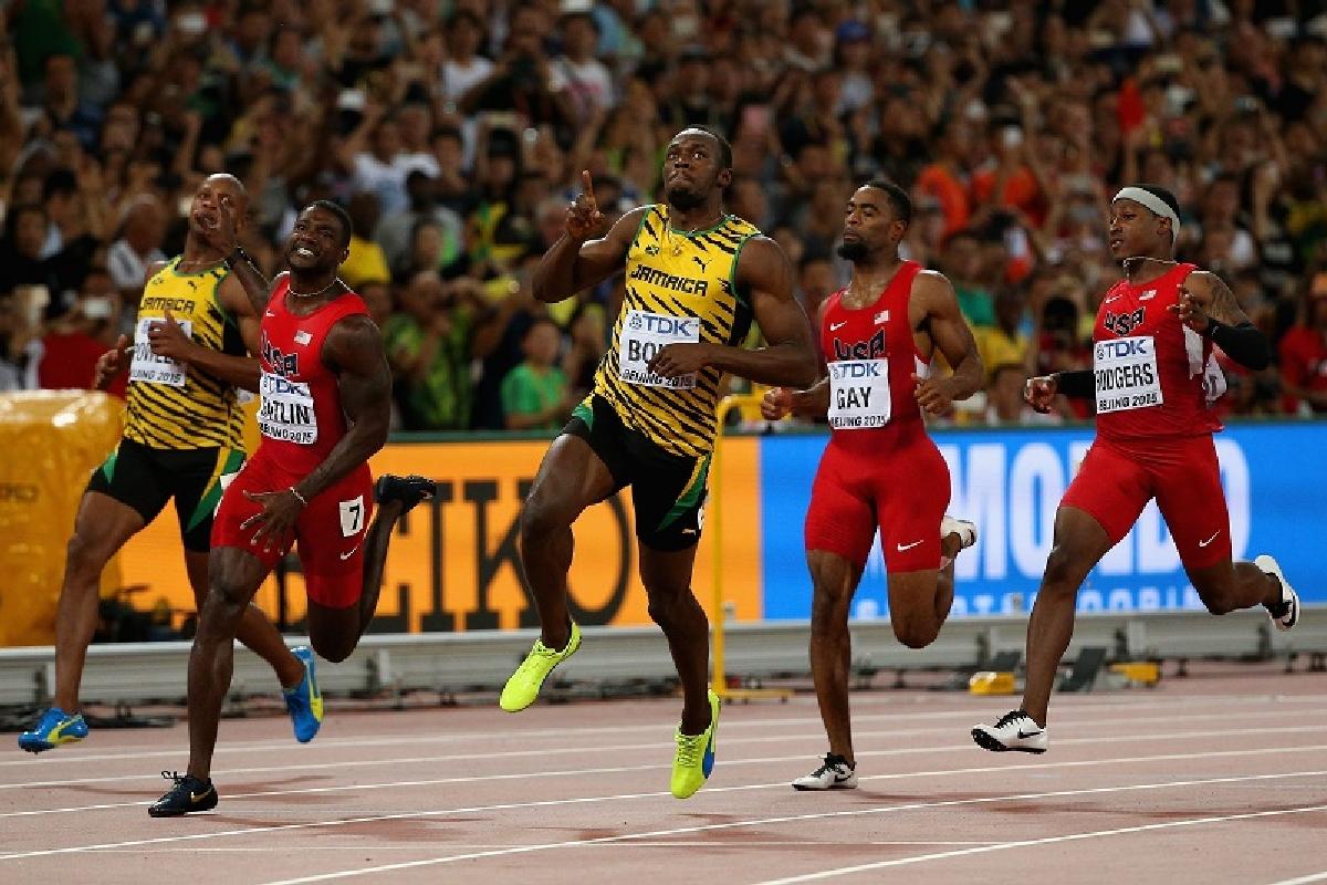 Usain Bolt medalie de aur 100 m la Beijing