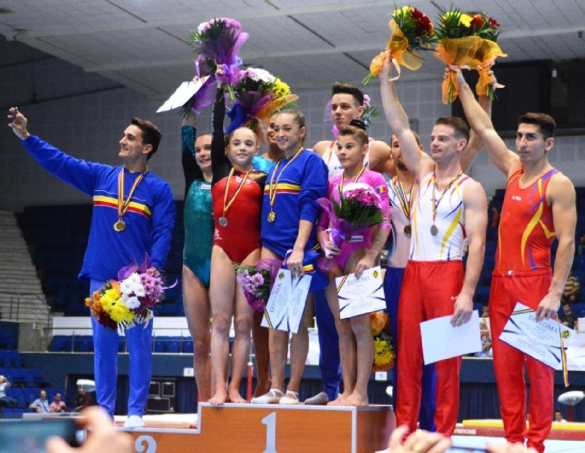 gimnastica artistica podium medalii Campionate Nationale