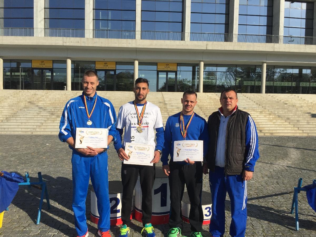atleti CS Universitatea Resita echipa 50 km mars